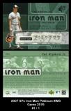 2007 SPx Iron Man Platinum #IM3 Game 2576