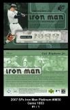 2007 SPx Iron Man Platinum #IM30 Game 1853