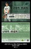 2007 SPx Iron Man Platinum #IM33 Game 1797