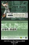 2007 SPx Iron Man Platinum #IM38 Game 1645