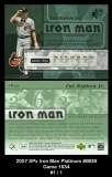 2007 SPx Iron Man Platinum #IM39 Game 1634