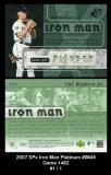 2007 SPx Iron Man Platinum #IM45 Game 1482