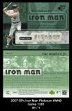 2007 SPx Iron Man Platinum #IM49 Game 1381