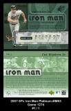 2007 SPx Iron Man Platinum #IM53 Game 1274