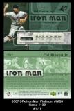 2007 SPx Iron Man Platinum #IM58 Game 1130