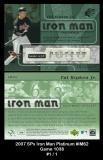2007 SPx Iron Man Platinum #IM62 Game 1038