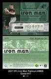 2007 SPx Iron Man Platinum #IM66 Game 917