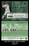 2007 SPx Iron Man Platinum #IM79 Game 594