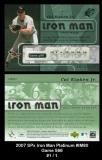 2007 SPx Iron Man Platinum #IM80 Game 566