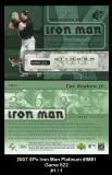 2007 SPx Iron Man Platinum #IM81 Game 522