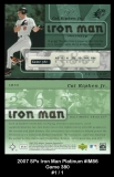 2007 SPx Iron Man Platinum #IM86 Game 380