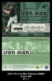 2007 SPx Iron Man Platinum #IM89 Game 299