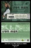2007 SPx Iron Man Platinum #IM90 Game 288