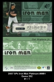 2007 SPx Iron Man Platinum #IM91 Game 262