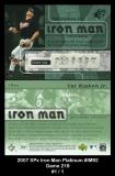 2007 SPx Iron Man Platinum #IM92 Game 219