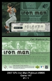 2007 SPx Iron Man Platinum #IM95 Game 147