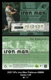 2007 SPx Iron Man Platinum #IM96 Game 129