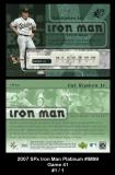 2007 SPx Iron Man Platinum #IM99 Game 41