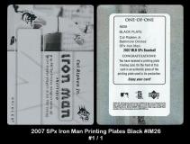 2007 SPx Iron Man Printing Plates Black #IM26