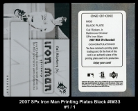 2007 SPx Iron Man Printing Plates Black #IM33