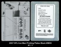 2007 SPx Iron Man Printing Plates Black #IM35