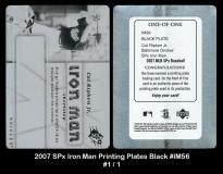 2007 SPx Iron Man Printing Plates Black #IM56