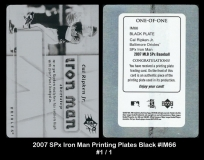 2007 SPx Iron Man Printing Plates Black #IM66