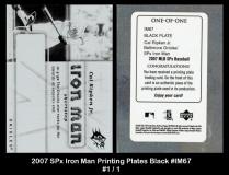 2007 SPx Iron Man Printing Plates Black #IM67