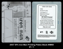 2007 SPx Iron Man Printing Plates Black #IM69