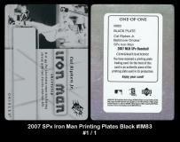 2007 SPx Iron Man Printing Plates Black #IM83