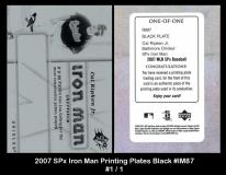 2007 SPx Iron Man Printing Plates Black #IM87