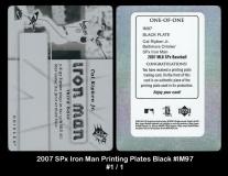 2007 SPx Iron Man Printing Plates Black #IM97