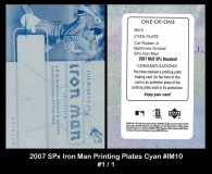 2007 SPx Iron Man Printing Plates Cyan #IM10