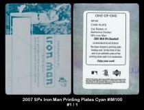 2007 SPx Iron Man Printing Plates Cyan #IM100