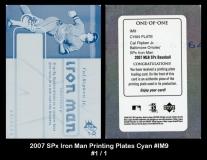 2007 SPx Iron Man Printing Plates Cyan #IM9