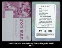 2007 SPx Iron Man Printing Plates Magenta #IM10