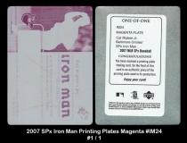 2007 SPx Iron Man Printing Plates Magenta #IM24