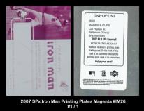 2007-SPx-Iron-Man-Printing-Plates-Magenta-IM26