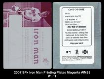 2007 SPx Iron Man Printing Plates Magenta #IM33