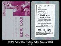 2007 SPx Iron Man Printing Plates Magenta #IM36