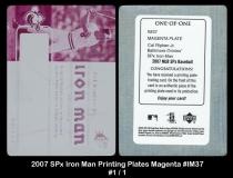 2007 SPx Iron Man Printing Plates Magenta #IM37
