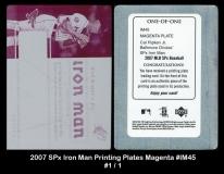 2007 SPx Iron Man Printing Plates Magenta #IM45