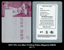 2007 SPx Iron Man Printing Plates Magenta #IM48