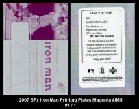 2007 SPx Iron Man Printing Plates Magenta #IM5