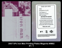 2007 SPx Iron Man Printing Plates Magenta #IM82