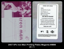 2007 SPx Iron Man Printing Plates Magenta #IM86