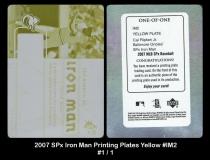2007 SPx Iron Man Printing Plates Yellow #IM2