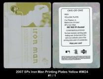 2007 SPx Iron Man Printing Plates Yellow #IM24