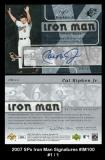2007 SPx Iron Man Signatures #IM100