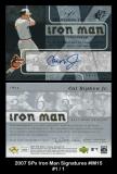 2007 SPx Iron Man Signatures #IM15